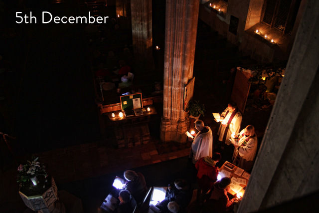 Carbrooke Advent darkness into light service